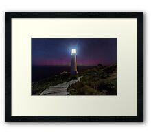 Castlepoint Lighthouse & Aurora Australis Framed Print