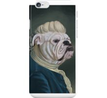 Pup Portrait with Lace Jabot iPhone Case/Skin
