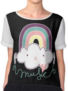 I Love Music Doodle Chiffon Top