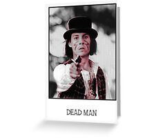 johnny depp in dead man Greeting Card