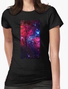 Beautiful Galaxy Nebula Womens Fitted T-Shirt