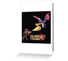 WIZARD VS DRAGON COC Greeting Card