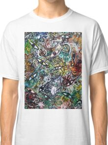 Abstract Psychedelic Geometric Eyes Classic T-Shirt