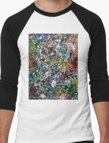 Abstract Psychedelic Geometric Eyes Men's Baseball ¾ T-Shirt
