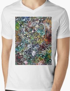 Abstract Psychedelic Geometric Eyes Mens V-Neck T-Shirt