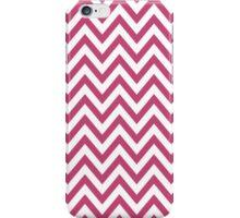 Chic chevron pattern, fuchsia rose iPhone Case/Skin