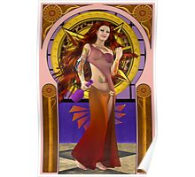 New wine arrived today ~ Art Nouveau Poster