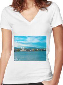Dat Boat Women's Fitted V-Neck T-Shirt