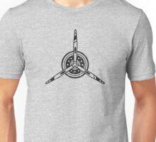 Airline Propeller Airplane Pilot Funny Logo Unisex T-Shirt