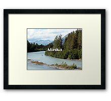 Alaska: River and mountains, USA Framed Print