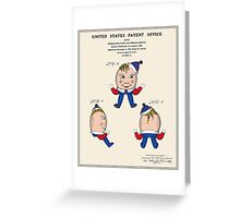 Humpty Dumpty Patent Greeting Card