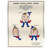 Humpty Dumpty Patent Poster