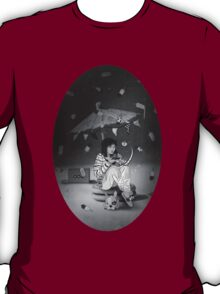 Tea Party with girl and French Bulldog on the Moon T-Shirt