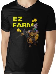 Ez Farm Mens V-Neck T-Shirt