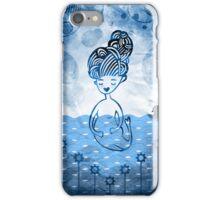 Mermaid with duck in sea iPhone Case/Skin