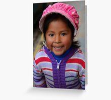 Peruvian Princess Greeting Card