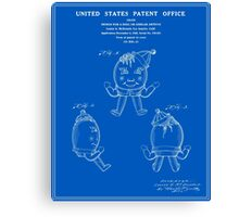 Humpty Dumpty Patent - Blueprint Canvas Print
