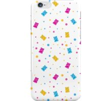 Pattern with jelly bears iPhone Case/Skin