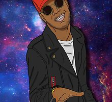 Kid Cudi galaxy by freaksandsneaks