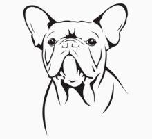 cute french bulldog face Baby Tee