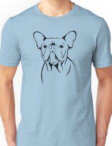 cute french bulldog face Unisex T-Shirt