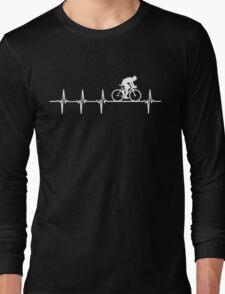 Mountain Biking Heartbeat Love Long Sleeve T-Shirt