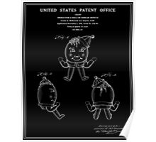 Humpty Dumpty Patent - Black Poster