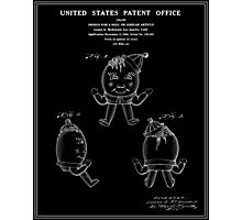 Humpty Dumpty Patent - Black Photographic Print