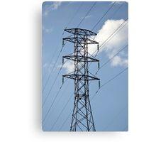 high voltage electricity line Canvas Print