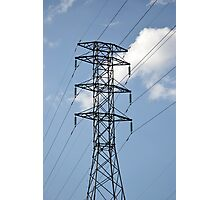 high voltage electricity line Photographic Print
