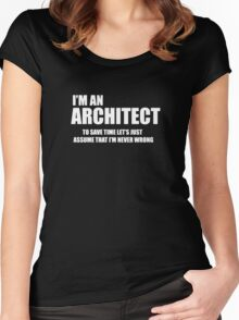 Architect Funny Logo Women's Fitted Scoop T-Shirt