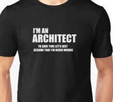 Architect Funny Logo Unisex T-Shirt