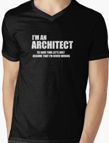 Architect Funny Logo Mens V-Neck T-Shirt