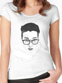 namjoon/rap monster-bts Women's Fitted Scoop T-Shirt