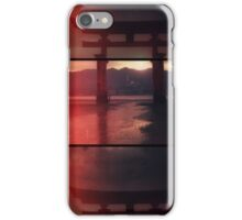 Tori gate in triptych iPhone Case/Skin