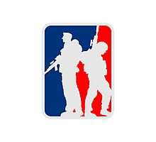 2 soldiers friends sports team crew Photographic Print