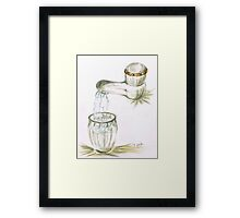 Thirsty of water Framed Print