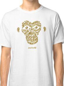 Jane Goodall monkey face Classic T-Shirt