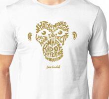 Jane Goodall monkey face Unisex T-Shirt