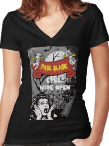 eyes wide open Women's Fitted V-Neck T-Shirt
