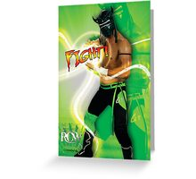 FIGHT - Lucha Riot City Wrestling series Greeting Card