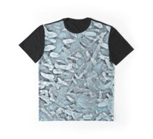 Ocean Tips Silver Blue Abstract Graphic T-Shirt