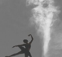Dancer under a foreboding sky by nadine henley