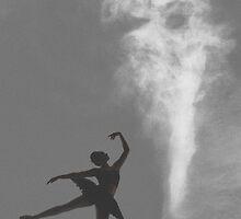 Dancer under a foreboding sky by nadine henley