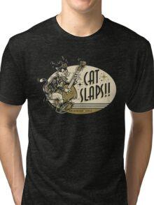 Cat Slaps Tri-blend T-Shirt