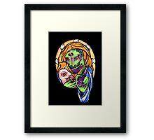 reptilian benediction Framed Print
