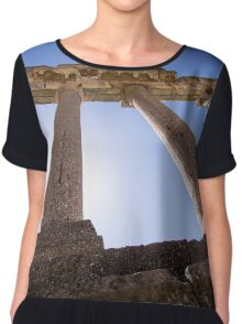Ancient Columns - Travel Photography Chiffon Top