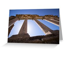 Ancient Columns - Travel Photography Greeting Card