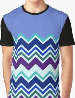 Chevron Lavender Turquoise Blue Purple Zigzag Pattern Graphic T-Shirt