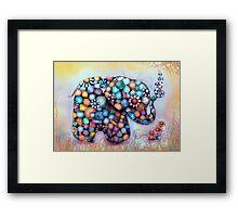 Little Sunshine the Patchwork Elephant Framed Print